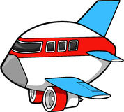 Jet Vector Illustration. Jumbo Jet Aircraft Vector Illustration Stock Photography