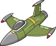 Jet Vector Illustration. Military Jet Fighter Vector Illustration Stock Photography