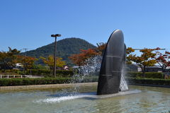 A jet of watera fountain Royalty Free Stock Photography