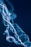 Jet of white smoke against Stock Photography