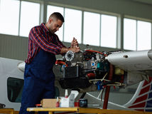 Jet workman Royalty Free Stock Photography