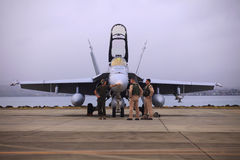 Jet XFA-18 del Cuerpo del Marines de los E.E.U.U. fotos de archivo