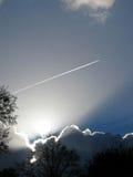Jet y cielo Imagenes de archivo