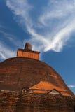 Jetavan的看法最旧的Dagoba在阿努拉德普勒,斯里兰卡 库存图片