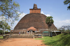 Jetavana Dagoba in Anuradhapura La Sri Lanka fotografia stock libera da diritti