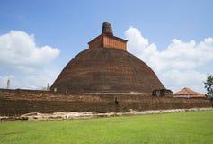 The Jetavana Dagoba at Anuradhapura Park. Sri Lanka Royalty Free Stock Photography