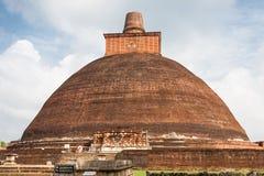 Jetavana Dagoba landmark of Anuradhapura, Sri Lanka, Asia. Royalty Free Stock Photo
