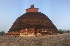 Jethawanaramaya in sri lanka. The Jetavanaramaya is a stupa monument, or Buddhist reliquary, located in the ruins of the Jetavana Monastery in the World Heritage stock image