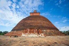 Jetavaranama dagoba stupa. Anuradhapura, Sri Lanka - UNESCO Stock Photography