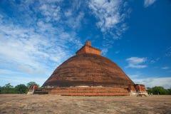 Jetavaranama dagoba stupa. Anuradhapura, Sri Lanka - UNESCO Royalty Free Stock Image