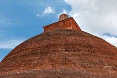 Jetavaranama dagoba (stupa), Sri Lanka stock photo