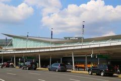 JetBlue终端5在约翰・肯尼迪国际机场在纽约 免版税库存图片