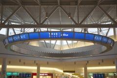 JetBlue终端5在约翰・肯尼迪国际机场在纽约 免版税库存照片