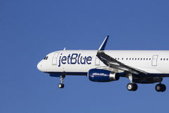 JetBlue Airbus A321 Foto de Stock Royalty Free