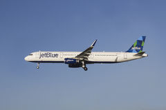 JetBlue Airbus A321 royalty free stock photo