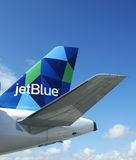 JetBlue Airbus A321 prism inspired design tailfin Stock Photos