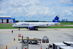 Jetblue airline Royalty Free Stock Photography
