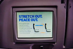 Jetblue airline seat screen Royalty Free Stock Photos