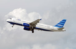 Jetblue airplane taking off Royalty Free Stock Image