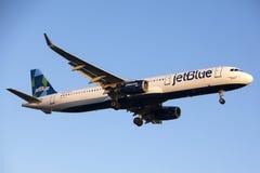 JetBlue Airways Aerobus A321 Obrazy Stock