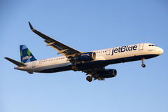 JetBlue Airways Airbus A321 Stock Images