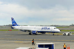 Jetblue Airways Embraer 190 at Boston Airport Royalty Free Stock Photo