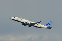 Jetblue Airways Embraer 190 at Boston Airport Stock Image