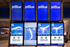 JetBlue Arrival Departure Board Royalty Free Stock Image
