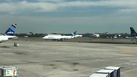 JetBlue plane on tarmac at JFK stock video footage