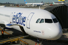 JetBlue plane on tarmac at John F Kennedy International Airport in New York Stock Images
