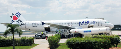 jetblue samolot Obraz Royalty Free
