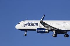 JetBlueluchtbus A321 Royalty-vrije Stock Foto