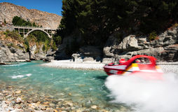 Jetboat on Shotover River Royalty Free Stock Images