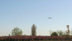 JetBoeing 737 annalkande landning lager videofilmer