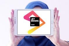 JetBrains software development company logo. Logo of JetBrains company on samsung tablet holded by arab muslim woman. JetBrains is a software development company Stock Photos