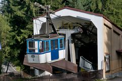 The Ještěd cable car - lower station Stock Photos
