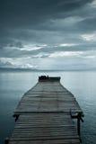 Jetée avant tempête Photo libre de droits