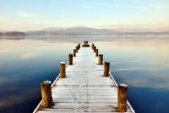 Jetée chez Windermere, district anglais de lac Image libre de droits