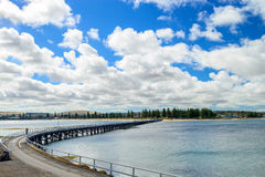 Jetée de Victor Harbor, côte australienne du sud Image stock