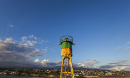 Jetée et phare dans le Saint Pierre, La Reunion Island Photos stock