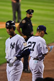 Jeter et Girardi Photos stock