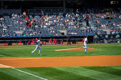 Jeter Takes the Field Royalty Free Stock Photos