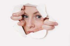 Trou de visage images libres de droits image 7729499 - Jeter un coup d oeil anglais ...