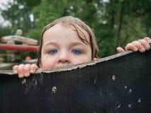 Jetez un coup d'oeil un huer Photo stock