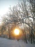 Jetez un coup d'oeil un lever de soleil de huer Images libres de droits