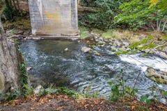 Jetez un pont sur au-dessus du Tumwater 2 Images libres de droits
