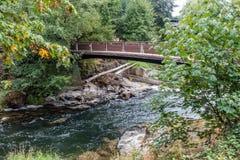 Jetez un pont sur au-dessus du Tumwater 3 Images stock