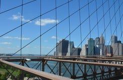 jetez un pont sur l'horizon neuf York de Brooklyn Image libre de droits