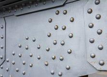 Jetez un pont sur le fond métallique d'élément, base d'acier d'argent de texture de techno photos libres de droits