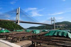 jetez un pont sur le mA tsing Photo libre de droits